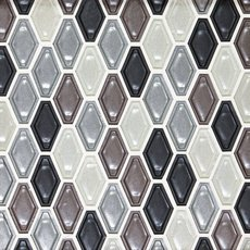 Pearl Gray Velvet Hexagon Glass Mosaic
