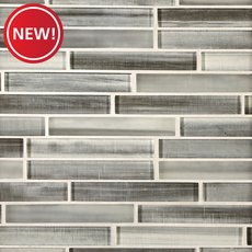 New! Mountain Mist Linear Glass Mosaic