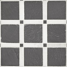 Black and White Forum Honed Slate Mosaic