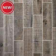 New! Raleigh Grey Wood Plank Porcelain Tile
