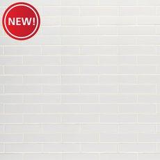 New! Bright White Ice Polished Ceramic Tile