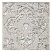 Aged White Ornato Matte Ceramic Tile