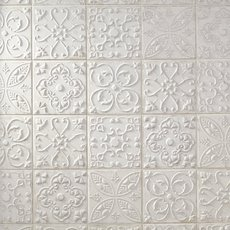 Aged White Ornato Matte Ceramic Tile
