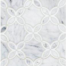Bianco Carrara Thassos Blossom Marble Mosaic
