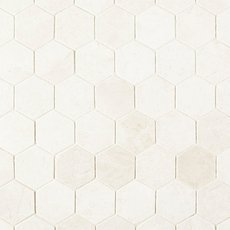 Santorini White 2 in. Hexagon Polished Marble Mosaic