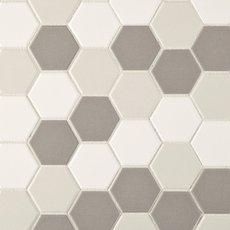 Unglazed Light Blend 2 in. Hexagon Porcelain Mosaic