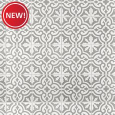 New! Equilibrio Gray Encaustic Cement Tile