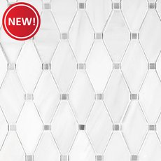 New! Dolomite Skyfall Clipped Diamond Marble Mosaic