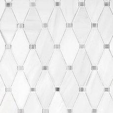 Dolomite Skyfall Clipped Diamond Marble Mosaic