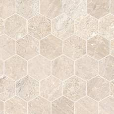 Crema Royal 2 in. Hexagon Polished Marble Mosaic