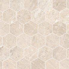 Crema Royal 2 in. Hexagon Polished Marble Mosaic