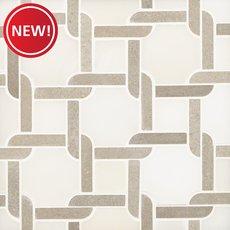 New! Taupe Lattice Polished Marble Mosaic