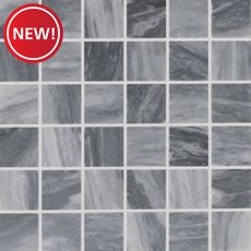 New! Dove Gray White Polished Marble Mosaic