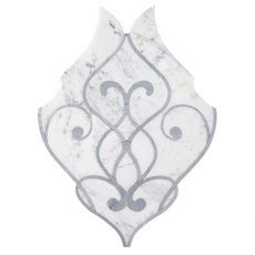 Aquarius Bianco Carrara and Latin Blue Mosaic