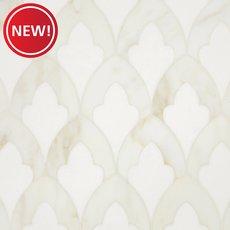 New! Athena Thassos Calacatta Waterjet Marble Mosaic