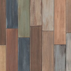Havana Wood Plank Multicolor Porcelain Tile