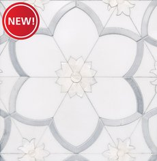 New! Flora Thassos Latin Blue Mother of Pearl Mosaic