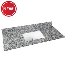 New! Kendall Gray Granite 49 in. Vanity Top