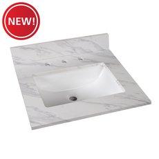 New! Volakas Engineered Marble 25 in. Vanity Top