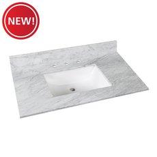 New! Bianco Carrara Marble 37 in. Vanity Top
