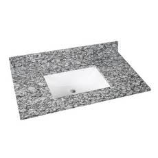 Kendall Gray Granite 37 in. Vanity Top