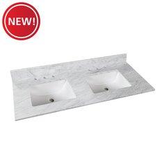 New! Bianco Carrara Marble 61 in. Vanity Top