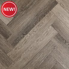 New! Stark Greige Herringbone Water-Resistant Laminate