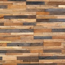 Tropical Mix Peel and Stick Reclaimed Wood Wall Panel