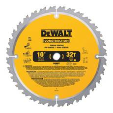 DeWalt 10in. 32T Large Diameter Jobsite Saw Blade