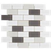 Sandhill Brick II Glass Mosaic