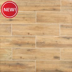 New! Mansfield Amber II Wood Plank Porcelain Tile
