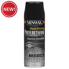 New! Minwax Fast-Drying Polyurethane Clear Gloss Spray