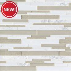 New! Paros Summer Stone II Glass Linear Mosaic