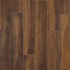 Santiago Marron Wood Plank Ceramic Tile