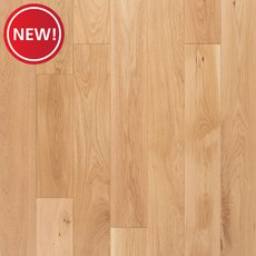 New! Turin White Oak Wire Brushed Solid Hardwood