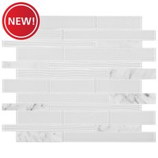 New! Cosmo Glass Linear Peel and Stick Mosaic