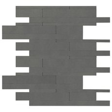 Industrial Groove Metal Peel and Stick Mosaic