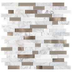 Uptown Bronze Linear Metal Peel and Stick Mosaic