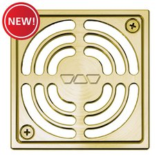 New! Schluter Kerdi-Drain 4in. Brushed Brass