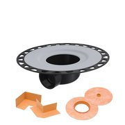Schluter Kerdi-Drain with Horizontal Outlet 2 ABS with Corners and Seals