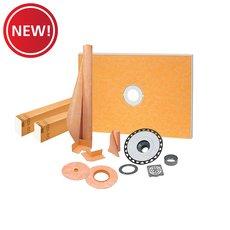 New! Schluter Kerdi-Shower Kit 38in. x 60in. ABS Stainless Steel