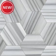 New! Skyfall Empire Hexagon Polished Marble Tile