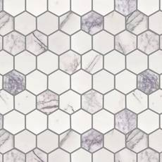Amethyst 2 in. Hexagon Polished Marble Mosaic