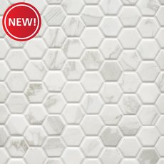 New! Marble Art 1.5 in. Hexagon Ceramic Mosaic