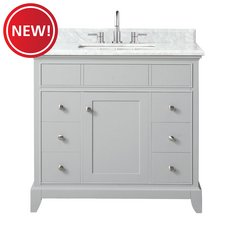 New! Aurora 37 in. Vanity with Carrara Marble Top
