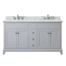 Aurora 61 in. Vanity with Carrara Marble Top