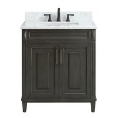 Sterling 31 in. Vanity with Carrara Marble Top