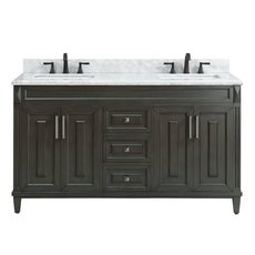 Sterling 61 in. Vanity with Carrara Marble Top