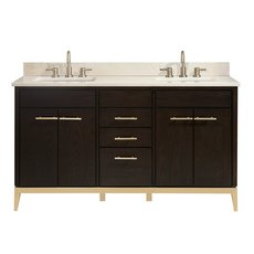 Hepburn 61 in. Vanity with Crema Marfil Marble Top
