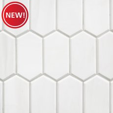 New! Dolomite Premium Facet Polished Marble Mosaic